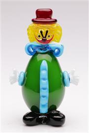 Sale 9060 - Lot 17 - Murano style glass clown (H22cm)