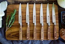 Sale 9240L - Lot 87 - 6-Piece Steak Knife Set - Rosewood - Laguiole Séquoia by Louis Thiers