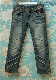 Sale 8420A - Lot 51 - A pair of Dolce & Gabbana womens denim jeans, size 8, condition: very good