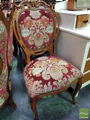 Sale 8465 - Lot 1067 - French Style Carved Bedroom Chair