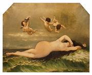 Sale 8619 - Lot 2009 - Artist Unknown (C19th) - Venus and Cupid 74 x 97cm (frame size: 87 x 109cm)