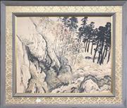 Sale 8789 - Lot 2092A - A Chinese landscape watercolour, 68.5 x 78.5cm