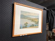 Sale 8836 - Lot 2063 - Richard Stanley - Tasmanian Lake Scene (25cm x 35cm)