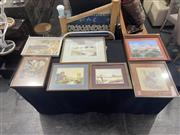 Sale 8981 - Lot 2051 - Group of (7) Australiana Paintings incl. Albert Namatjira decorative print