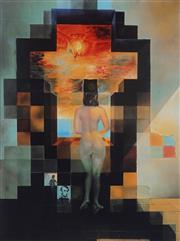 Sale 8985A - Lot 5029 - Salvador Dali (1904 - 1989) - Lincoln in Dalivision 75 x 56 cm (frame:113 x 87 x 3 cm )