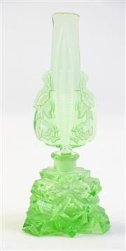 Sale 8997 - Lot 71 - A Uranium Glass Perfume Bottle (H 19cm, some small chips)