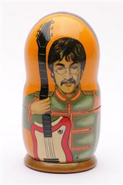 Sale 9035 - Lot 27 - Beatles Themed Babushka Dolls
