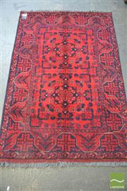 Sale 8289 - Lot 1089 - Afghan Hand Knotted Woollen Rug (155 x 100cm)