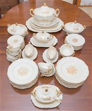 Sale 8346A - Lot 11 - An extensive collection of oak pattern Masons dinner service, comprising; 12 dinner plates, 12 entree dishes, 12 bread & butter plat...