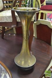 Sale 8339 - Lot 93 - Brass Art Deco Smokers Stand