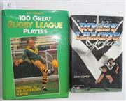 Sale 8418S - Lot 47 - BOOKS ON THE GREATS OF RUGBY LEAGUE. (2 books) Great Rugby League Players by Ray French, Modern Rugby League Greats (NZ) by John Cof...