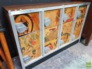 Sale 8495F - Lot 1009 - Vintage Japanese Locker with Timber Keys
