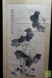 Sale 8512 - Lot 40 - Chinese Scroll Depicting White Flower