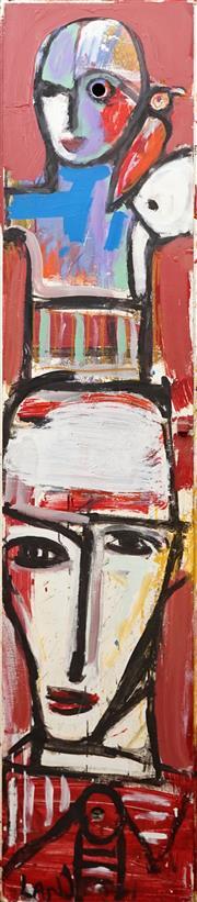 Sale 8657A - Lot 5037 - Stephen Langdon - Untitled 181.5 x 40.5cm