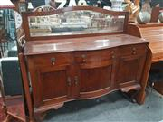 Sale 8676 - Lot 1337 - Elevated Sideboard with Mirrored Back
