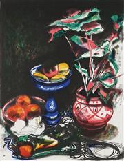 Sale 8901A - Lot 5077 - Frederick Cress (1938 - 2009) - Blue Vase 76 x 57.5 cm