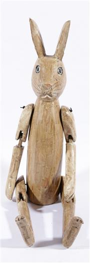 Sale 9003 - Lot 24 - Timber Articulated HENNOW Hare (h:69cm)