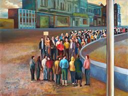 Sale 9161A - Lot 5027 - TERRY MATASSONI (1959 - ) Crowd, 2007 oil on linen 76 x 101.5 cm (frame: 79 x 104 x 5 cm) signed and dated lower left; Australian Ga...