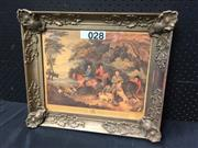 Sale 9053 - Lot 2089 - Print of an engraving by Francis W, Return from Shooting, frame: 38 x 43 cm