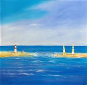Sale 9072A - Lot 5049 - Kym Hart (1965 - ) - Summer Sails 90 x 90 cm (frame: 110 x 110 cm)