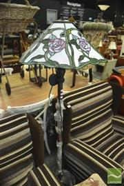Sale 8337 - Lot 1061 - Leadlight Shade Standard Lamp
