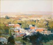 Sale 8526 - Lot 595 - Maxwell Wilks (1944 - ) - Evening Light, Maldon, 1987 50 x 60cm