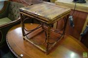 Sale 8554 - Lot 1090 - Split Cane Side Table