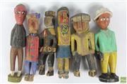 Sale 8608 - Lot 4 - Vintage Baule Colon Figures, Ivory Coast (6)