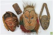 Sale 8635 - Lot 45 - Collection Of Carved Masks