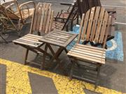 Sale 8676 - Lot 1196 - Pair of Outdoor Folding Chairs