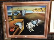Sale 8771 - Lot 2095 - 2 Works: C. Ryan - Time, Acrylic, SLR Plus Haden - Landscape with Water, Acrylic, SLL