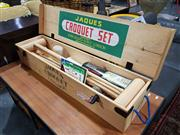 Sale 8826 - Lot 1066 - Jaques Timber Cased Croquet Set, London