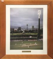 Sale 8863S - Lot 31 - Steve Waugh Photograph - 300 Club Second Test Australia vs South Africa, SCG 1997-98, in frame