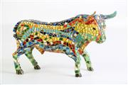 Sale 8909 - Lot 48 - A Toros Bacinos Mosaic Figural Bull (L 23cm H 15cm)