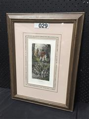 Sale 9053 - Lot 2032 - George Wright, Homewards, decorative print, frame: 53 x 40 cm, facsimile signed