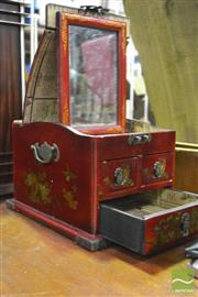 Sale 8361 - Lot 1081 - Chinese lacquered ladies vanity box.