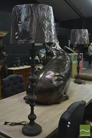 Sale 8361 - Lot 1016 - Pair of French Metal Table Lamps (5780)