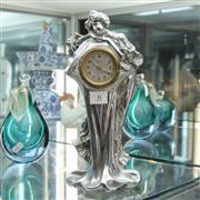 Sale 8362 - Lot 6 - German Chrome Art Deco Clock