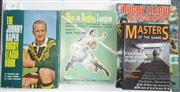 Sale 8418S - Lot 49 - BOOKS ON RUGBY LEAGUE THE GAME. (4 books) Johnny Raper Rugby League Book, Jack Pollard This is Rugby League, Jack Pollard Rugby Leag...