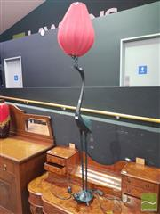 Sale 8495F - Lot 1006 - Crane & Tortoise Lamp