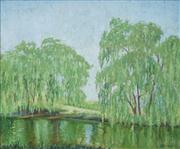 Sale 8549 - Lot 549 - Elioth Gruner (1882 - 1939) - Willow Reflection 30 x 37cm