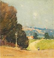 Sale 8597 - Lot 571 - Jesse Jewhurst Hilder (1881 - 1916) - Neutral Bay 19 x 18cm