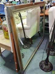 Sale 8629 - Lot 1044 - Large Gilt Framed Bevelled Edge Mirror