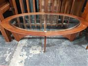 Sale 8782 - Lot 1064 - Oval G Plan Atmos Coffee Table with Glass Top