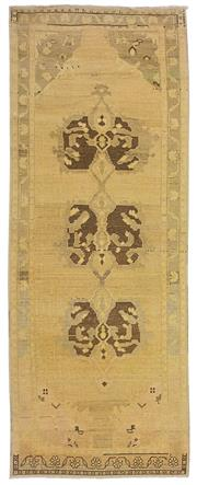 Sale 8725C - Lot 92 - A Vintage Turkish White Wash Carpet, Hand-knotted Wool, 230x86cm, RRP $975