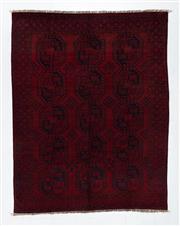 Sale 8760C - Lot 77 - An Afghan Antique Turkaman Design 100% Wool Pile , 270 x 200cm