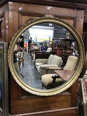 Sale 8817 - Lot 1023 - Round Gilt Framed Mirror