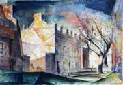 Sale 9013 - Lot 593 - John Santry (1910 - 1990) - Terrace Houses in Winter 37 x 54 cm (frame: 65 x 82 x 2 cm)