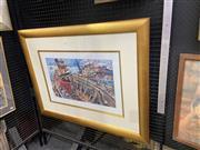 Sale 9082 - Lot 2017 - John Perceval (1923 - 2000) - Harbour Scene 35.5 x 59 cm (frame: 82 x 105 x 3 cm)