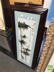 Sale 8449 - Lot 2083 - Pair of Framed Oriental Works